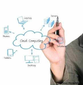 Cloud Computing Diagram by scottchan from FreeDigitalPhotos