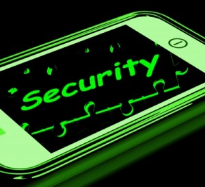 Security On Smartphone Shows Secure Password by Stuart Miles / Freedigitalphotos.net